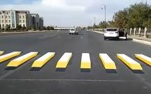 Azərbaycanda 3D piyada zolağı