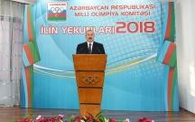 Prezident 2018-in idman yekunlarına həsr olunan mərasimdə