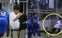 Futbolçunun qol sevinci topdaşıyan uşağı qorxutdu