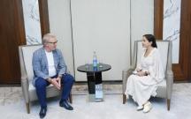 Leyla Əliyeva BMT-nin xoşməramlı səfiri ilə görüşüb