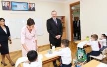Prezidentlə xanımı ilk dərs günü açılış etdi