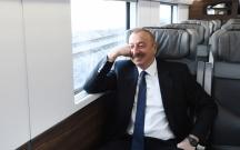 Cavid Qurbanov Prezidentə qatarda hesabat verdi