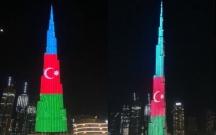 Bürc Xəlifə də Azərbaycan bayrağına boyandı