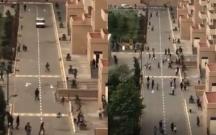 Karantini pozanlar polisi görüb evlərinə qaçdı
