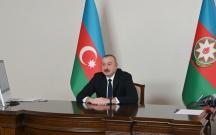 İlham Əliyev Türkmənistan Prezidenti ilə videokonfrans keçirdi