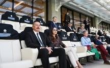 Prezident və xanımı Uels-İsveçrə matçını izlədi