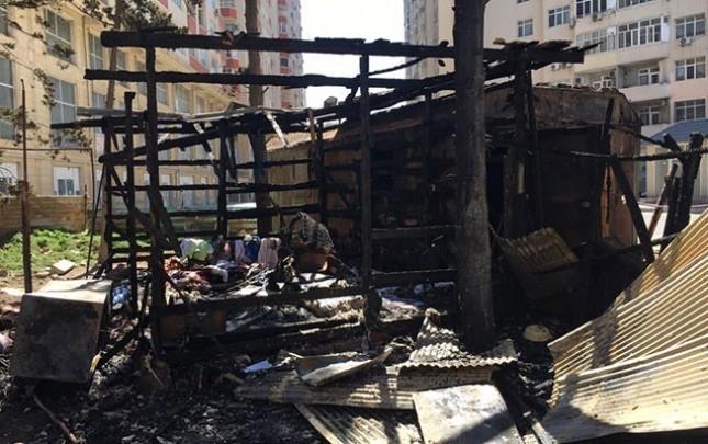 Ramin Hacılının evi yandı