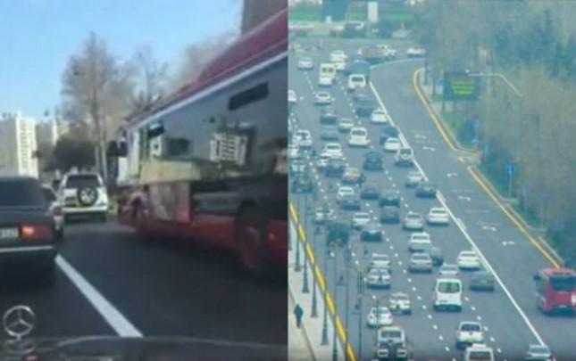 Bakıda avtobuslar üçün ayrılan xətlərin aqibəti