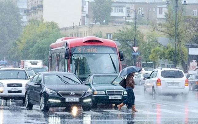 Bakıya yağış, dağlıq ərazilərə qar yağacaq