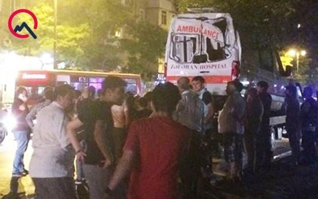 """Bakıda məşhur klinikanın """"ambulance""""ı qəzaya düşdü"""