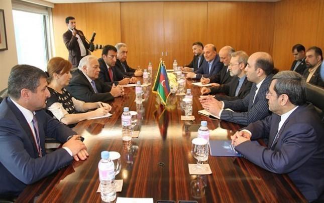 Azərbaycan və İran parlametinin sədrləri görüşüb