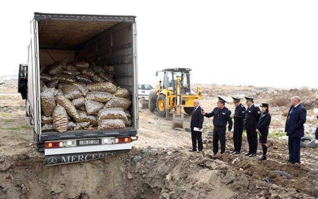 Sumqayıtda 26 ton kartof məhv edildi