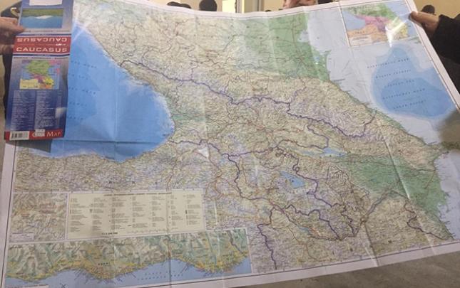 Gömrük postunda Ermənistana aid xəritələr saxlanılıb