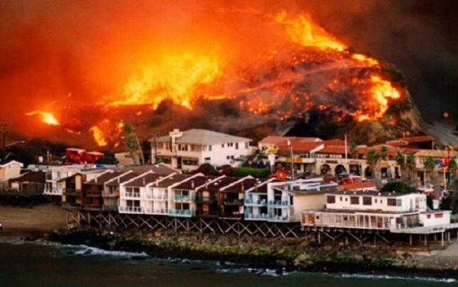 Kaliforniyada 11 min ev yandı