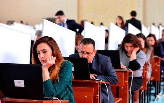 Dövlət qulluğuna verilən imtahanın nəticələri açıqlandı