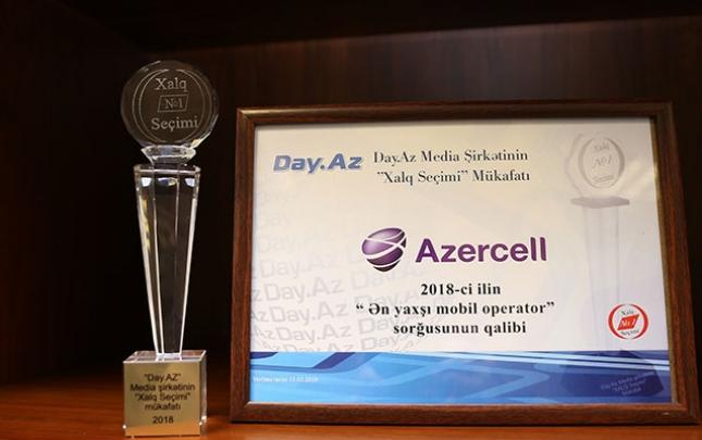 """Azercell """"Ən yaxşı mobil operator"""" seçildi"""