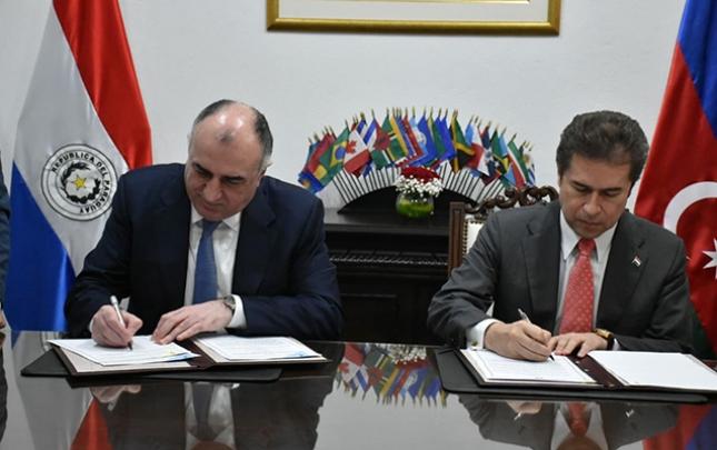 Azərbaycanla Paraqvay arasında saziş imzalandı