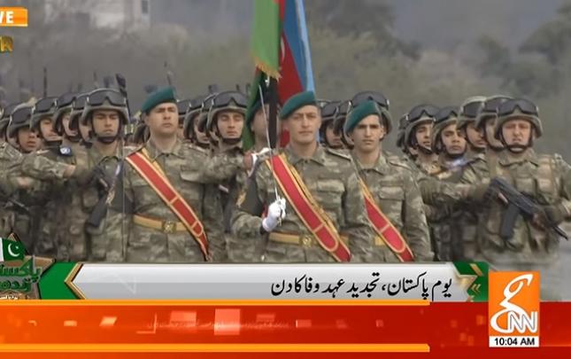 """Hərbçilərimiz Pakistanda """"Yaşasın Azərbaycan"""" şüarı ilə qarşılandı"""