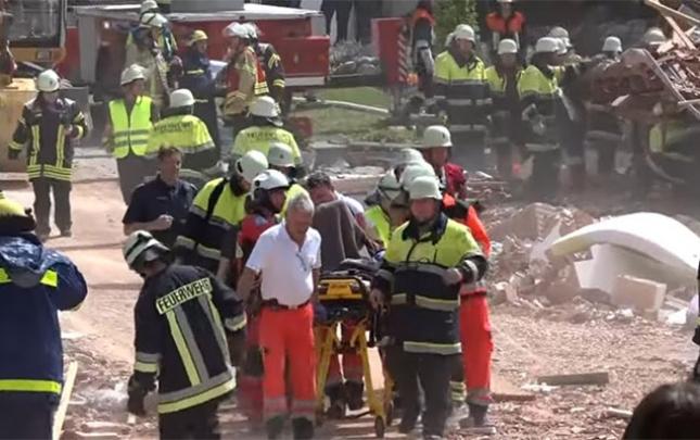 Qaz partlayışı nəticəsində yaşayış binası uçdu