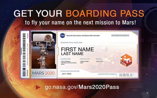 NASA adını Marsa göndərənləri açıqladı