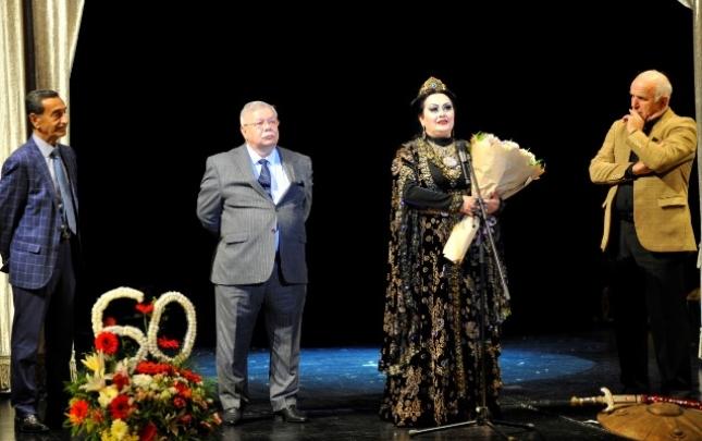 Xalq artisti Bəsti Cəfərovanın 60 illik yubileyi qeyd olunub