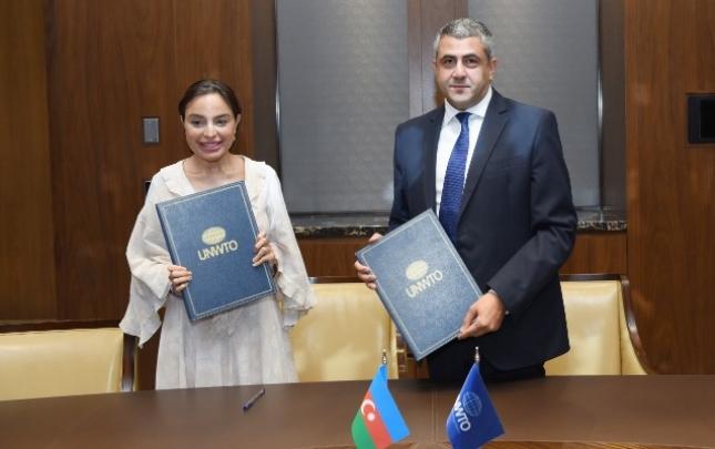 Leyla Əliyeva ÜTT ilə Anlaşma Memorandumu imzaladı