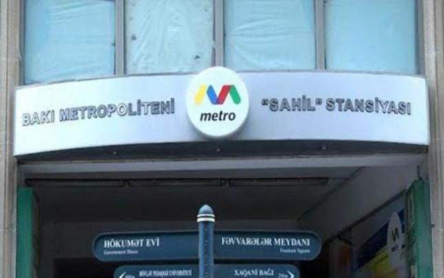 """""""Sahil"""" stansiyası işıqsız qaldı"""