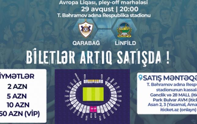 """""""Qarabağ"""" – """"Linfild"""" görüşünün biletləri satışda"""