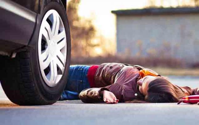 Ağstafada 17 yaşlı qızı maşın vurdu