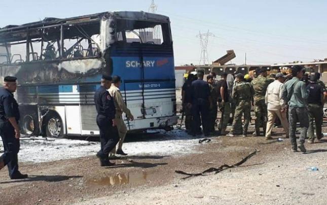 Kərbəlada sərnişin avtobusu partladıldı