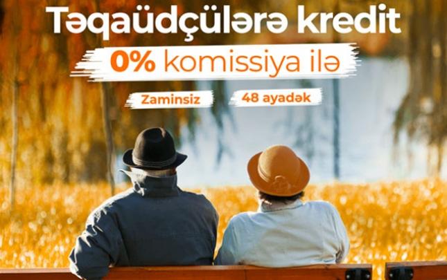 Unibank təqaüdçülər üçün krediti 0% komissiyalı etdi