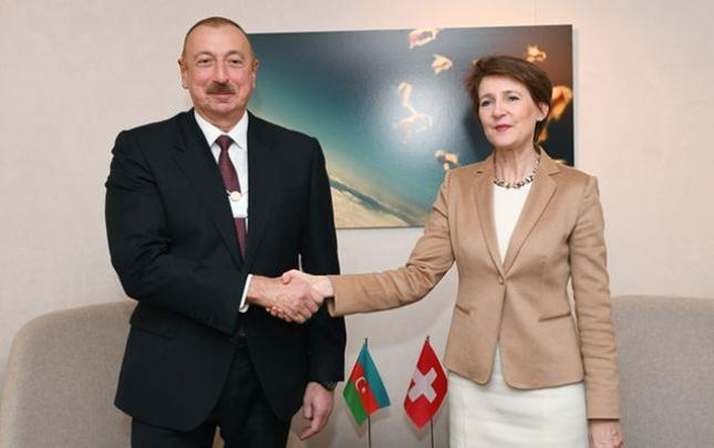 İlham Əliyev Davosda daha bir görüş keçirdi