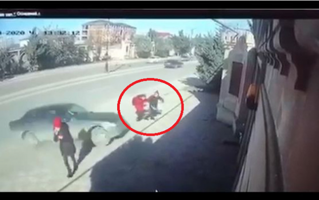 Şagirdləri vuran sürücü tutuldu