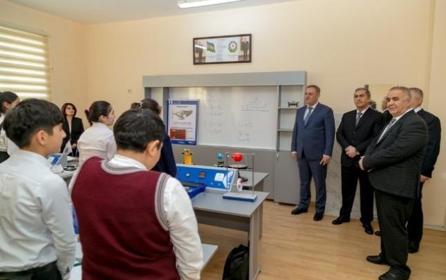 Salyanda Heydər Əliyev Fondunun təşəbbüsü ilə yeni məktəb binası inşa olunub
