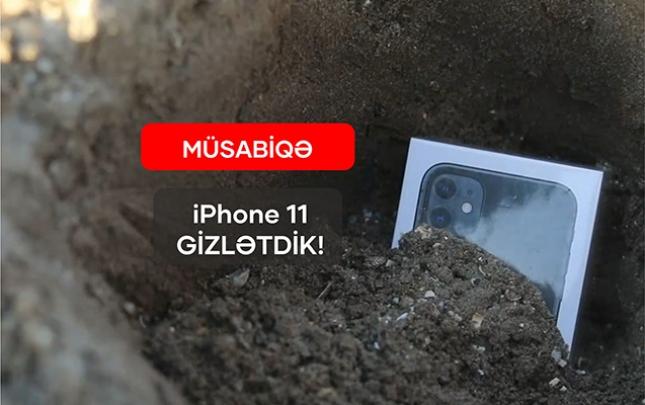Bakıda iPhone 11 basdırdılar