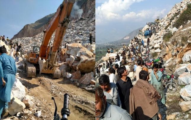 Pakistanda mədəndə uçqun