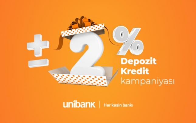 Unibankın sərfəli əmanət-kredit kampaniyası davam edir