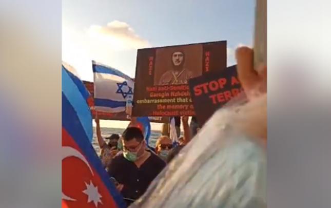 İsraildə ordumuza dəstək yürüşü keçirilib