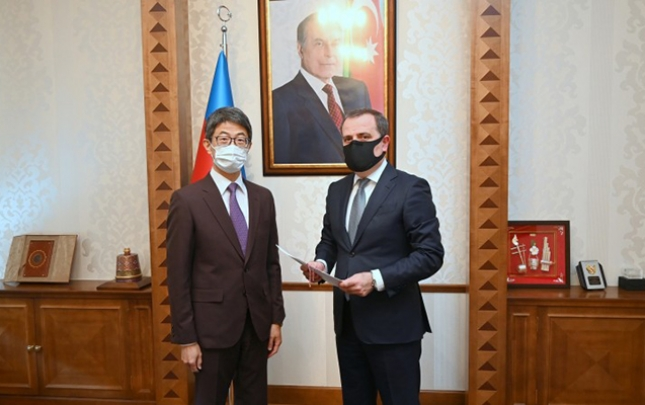 Ceyhun Bayramov yeni təyin olunmuş səfiri qəbul etdi