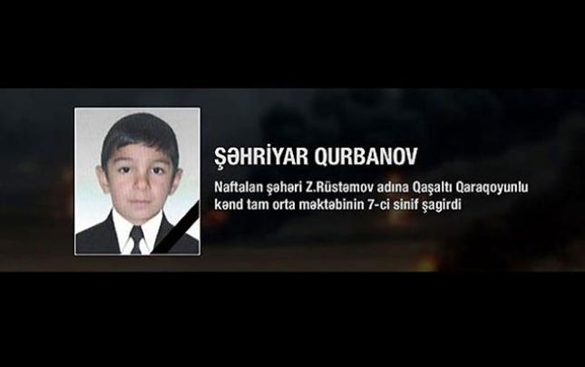 FIFA ermənilərin öldürdüyü 13 yaşlı Şəhriyarla bağlı başsağlığı verdi