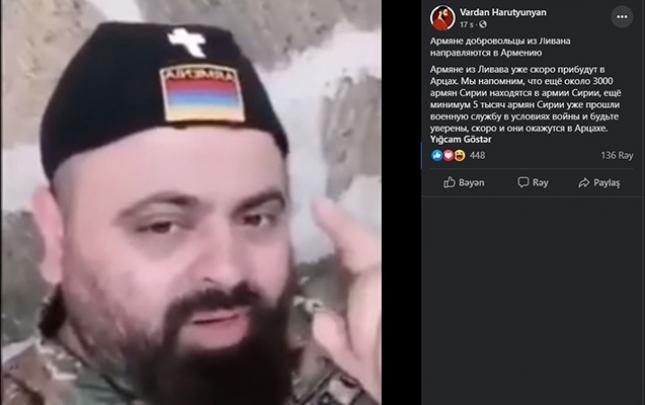 Livandan olan erməni silahlıları Qarabağa göndərilir