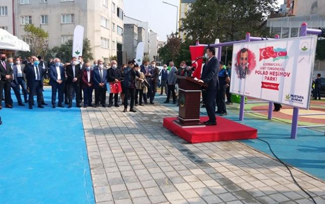 Türkiyədə Polad Həşimov adına park açıldı