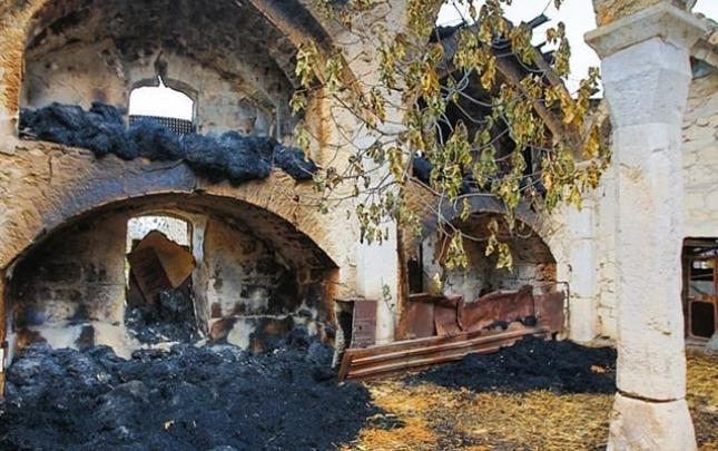 Ermənilər Ağdamdan çıxarkən bu məscidi də yandırıblar