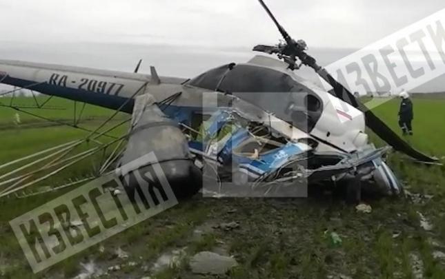 Rusiyada helikopter sərt eniş etdi, pilot öldü