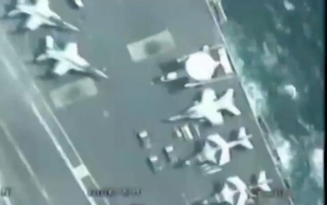 İran PUA-sı ABŞ təyyarədaşıyanının üstündən uçdu