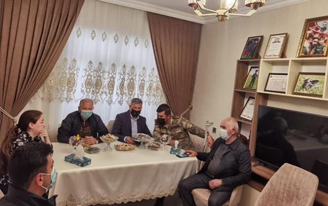 Suraxanıda bayram münasibətilə şəhid ailələri ziyarət edildi