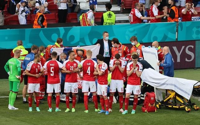 Danimarka – Belçika matçı 10-cu dəqiqədə dayandırılacaq