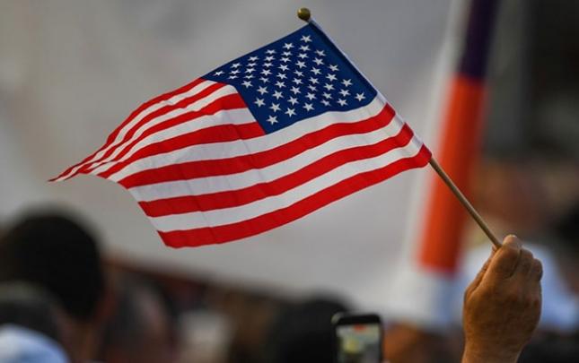 Paşinyanın tərəfdarlarının mitinqində ABŞ bayrağı qaldırıldı