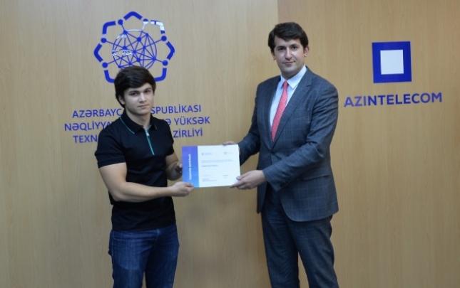 """""""AzInTelecom"""" təcrübə proqramını bitirənlərə sertifikatlar təqdim etdi"""