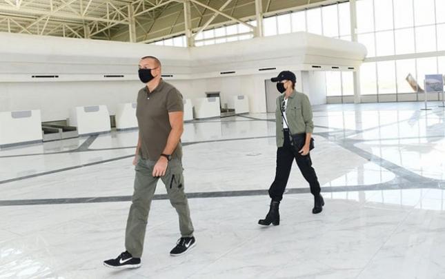 Prezident Füzuli Hava Limanında yaradılan şəraitlə tanış oldu